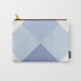 Blue Argyle Carry-All Pouch