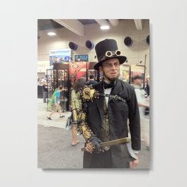Steampunk Abraham Lincoln Vampire Hunter Metal Print