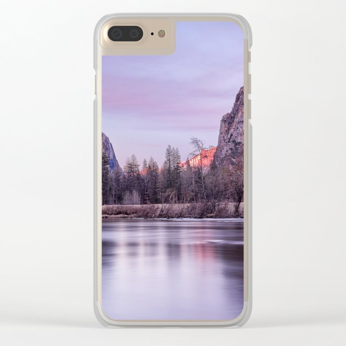 Yosemite National park sunset Clear iPhone Case