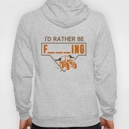 Mens I'd Rather Be Farming Tractor Design For A Hobby Farmer graphic Hoody