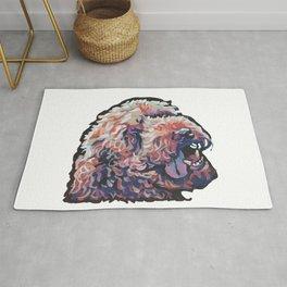 Labradoodle Doodle Dog Portrait bright colorful Pop Art Paintin by LEA Rug
