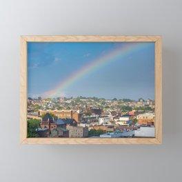 Upper Falls Rainbow Framed Mini Art Print