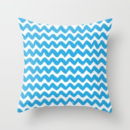 Blue Brushstroke Chevron Pattern by coolfunawesometime