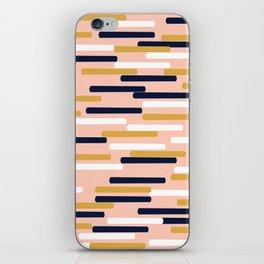 Britt - Modern pattern design perfect cell phone gift for trendy modern college dorm room decor iPhone Skin
