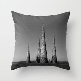 Grey black cones 4 Throw Pillow