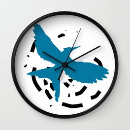 MockingJay Revolution - Blue Wall Clock
