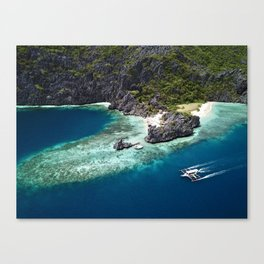 Island hopping around the Philippine Islands Canvas Print