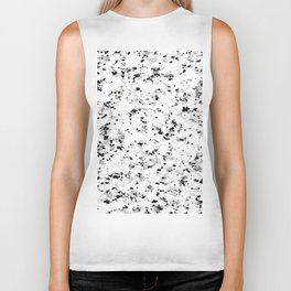 Black gray white abstract elegant marble Biker Tank