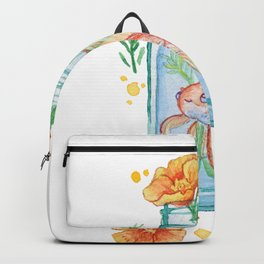Goldfish and California Poppies Backpack