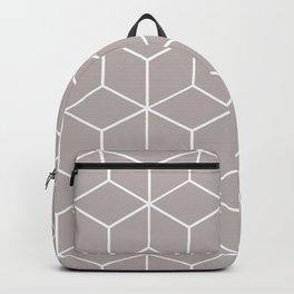 Cube Geometric 03 Grey Backpack