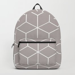 Cube Geometric 03 Grey Backpack