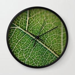 Veins of a leaf Wall Clock