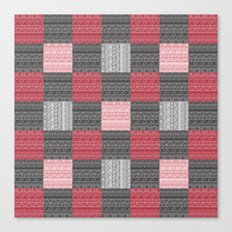 Red, White & Black Pattern Attack Canvas Print