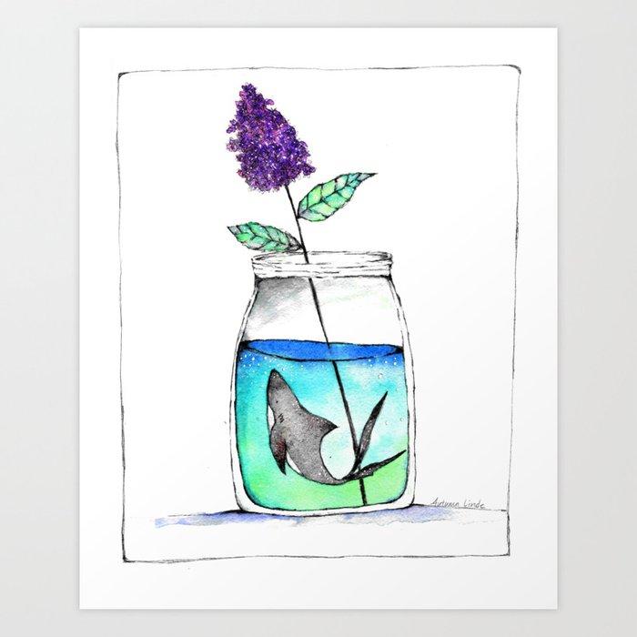 A Curious Jar Art Print