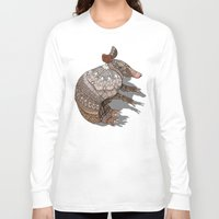ornate Long Sleeve T-shirts featuring Ornate Armadillo by ArtLovePassion