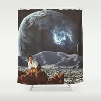 "alone Shower Curtains featuring ""Alone"" by TRASH RIOT"