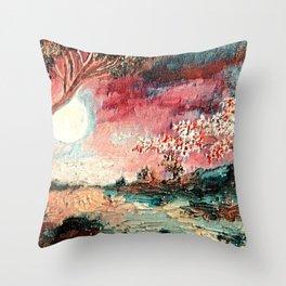 Spellbound sunset Throw Pillow
