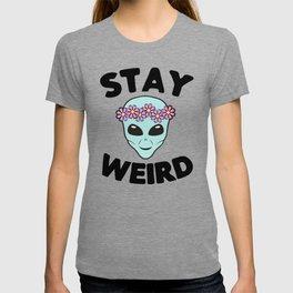 Stay Weird Alien Head T-shirt