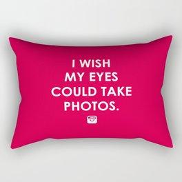 Eyes could take photos Rectangular Pillow