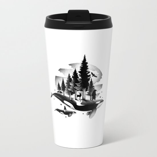 GREETINGS FROM THE PACIFIC NORTHWEST Metal Travel Mug
