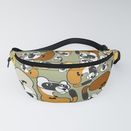 Black Footed Ferret pattern Fanny Pack
