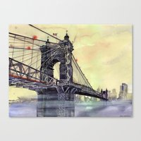 cincinnati Canvas Prints featuring Cincinnati by takmaj