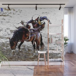 The Dismount   -   Rodeo Cowboy Wall Mural