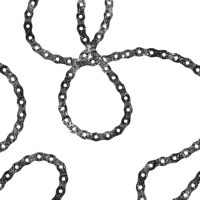 bicycle chain repeat pattern Leggings