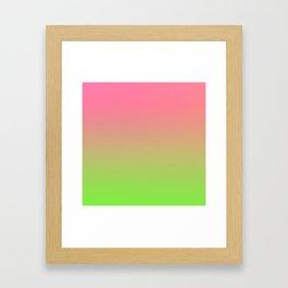 NEW ENERGY - Minimal Plain Soft Mood Color Blend Prints Framed Art Print