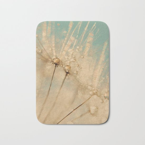dandelion gold and mint Bath Mat
