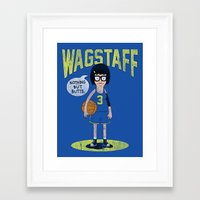 tina belcher Framed Art Prints featuring Tina - Nothing But Butts by Wizz Kid