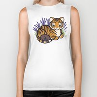 platypus Biker Tanks featuring Loafing Tiger, Hidden Platypus by Spoopy Surprise