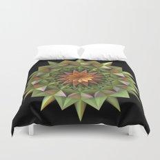 Cactus Flower Mandala Duvet Cover