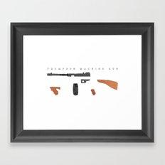 Thompson Machine Gun Framed Art Print
