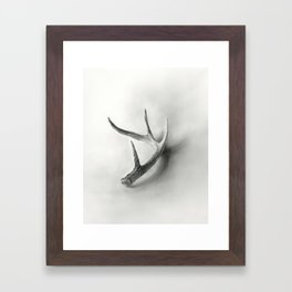 Lost and Found - Deer Antler Pencil Drawing Framed Art Print