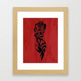 ABSTRACT QUEEN Framed Art Print