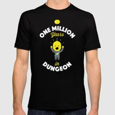 One Million Years in Dungeon LARGE Black Mens Fitted Tee