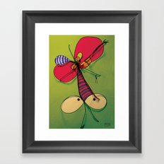 Mosquito Red Hat Framed Art Print