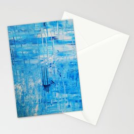 Abstract in Blue and White Stationery Cards