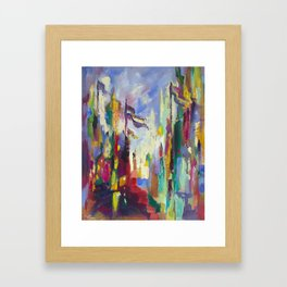 A Day in Chicago Framed Art Print