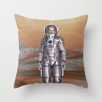 astronaut Throw Pillows featuring Astronaut by Design Windmill
