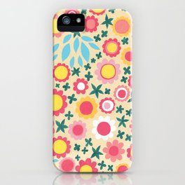 Crowded Colourful Flowers iPhone Case