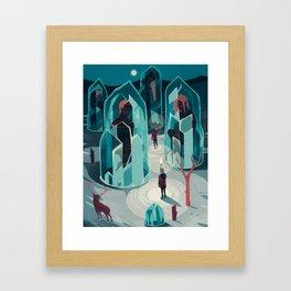Ice age Framed Art Print