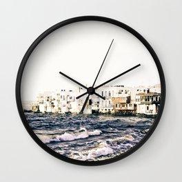 Little Venice Mykonos Wall Clock