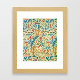 12,000pixel-500dpi - William Morris - Flora - Digital Remastered Edition Framed Art Print