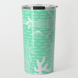 Carnival Glass Sea Life Stripes No. 2 Travel Mug