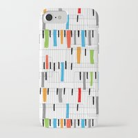 piano iPhone & iPod Cases featuring piano by mondebettina