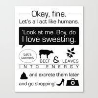 aperture Canvas Prints featuring Aperture Science, Portal Quote - Typography by sipstudio