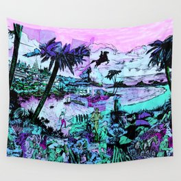 Beach Adventure Wall Tapestry
