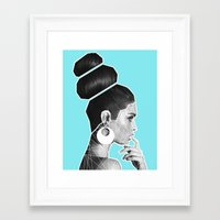 vogue Framed Art Prints featuring Vogue by G-Fab